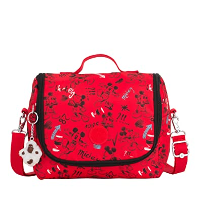 d32e3d8fd27 Amazon.com  Kipling Disney s Minnie Mouse And Mickey Mouse Kichirou Lunch  Bag One Size Sketch Red  Shoes