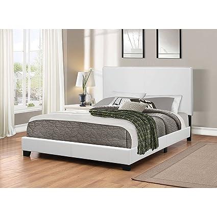 Amazon.com: Mauve Upholstered Full Size Bed, White + Expert ...