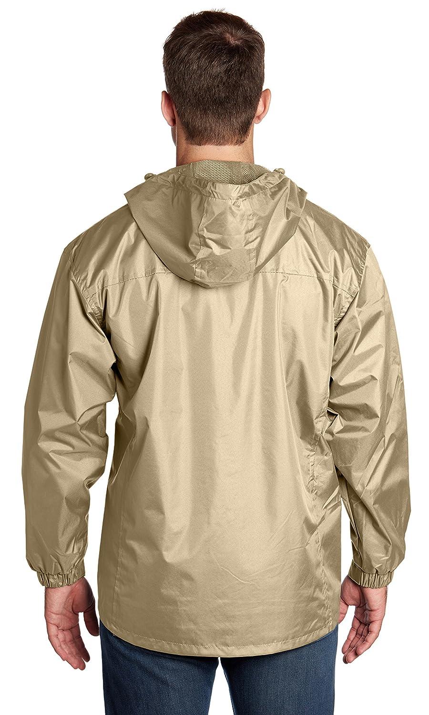 Equipment De Sport USA Mens Lined Hooded Wind Resistant//Water Repellent Windbreaker Jacket