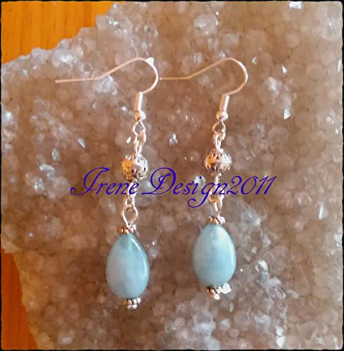 Aquamarine Tear Drops Earrings