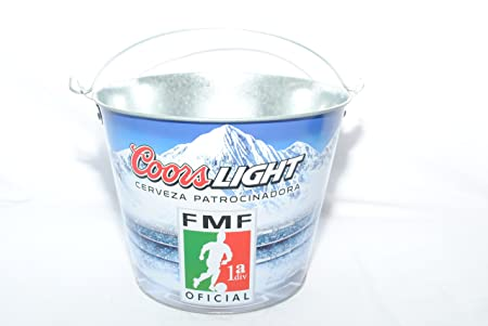 Coors Light FMF Cerveza Beer Bucket, Galvanised Tin With Handle