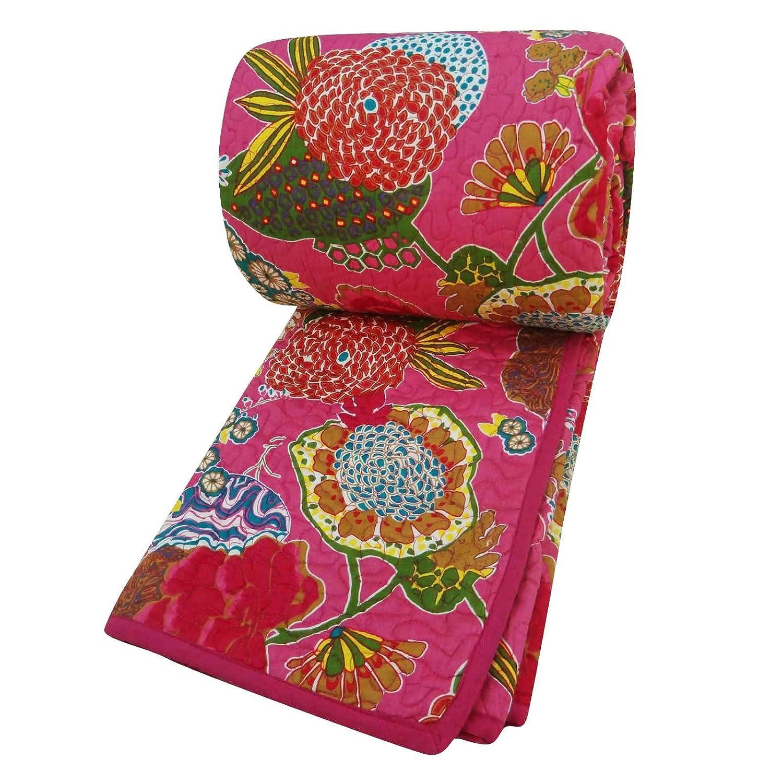 Pur Coton Rempli Taille New Gudri Reine Noire Quilt Paisley couvre-lit 108 X92 Indianbeautifulart