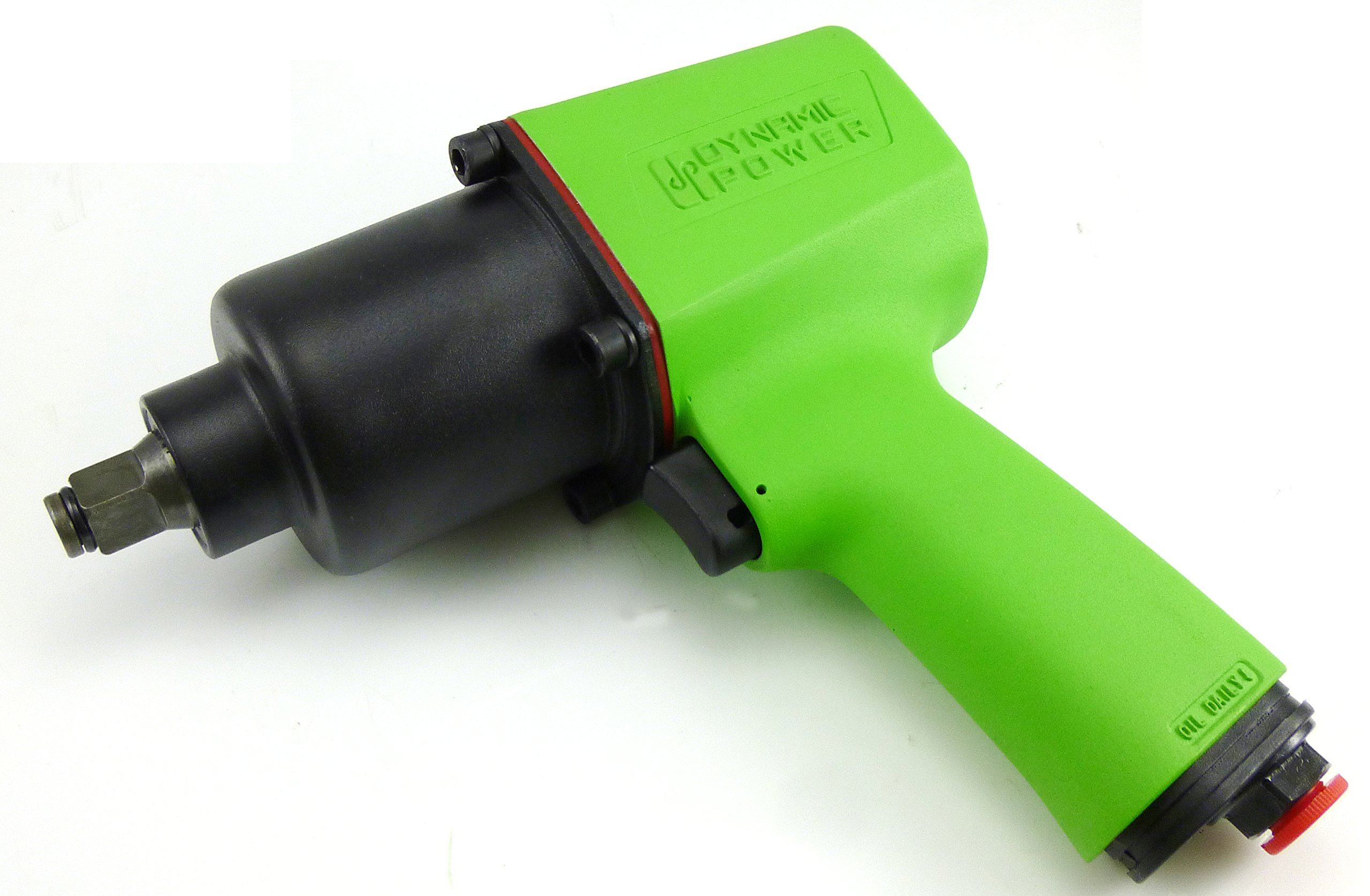 Dynamic Power Air Impact Wrench - Twin Hammer 1/2'' Impact Driver w/Composite Body and Comfort Grip. 600 ft-lb. D62627
