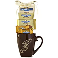 Ghirardelli Brown Mug Chocolate Gift Set - New Assortment For 2018 Christmas & New Years Holiday Season - Special Select Chocolates With Improved Product Protective Packaging.