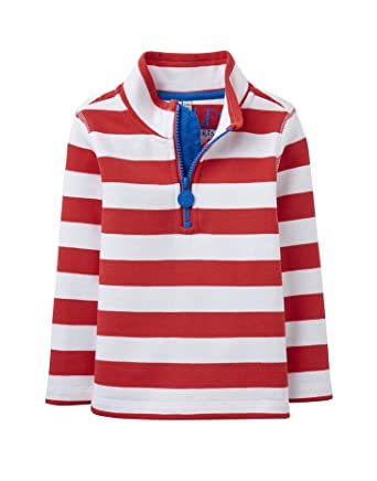 Kleidung & Accessoires Navy Blue Multi Stripe T-Shirts & Polos Joules Junior Dale Boys Half Zip Sweatshirt