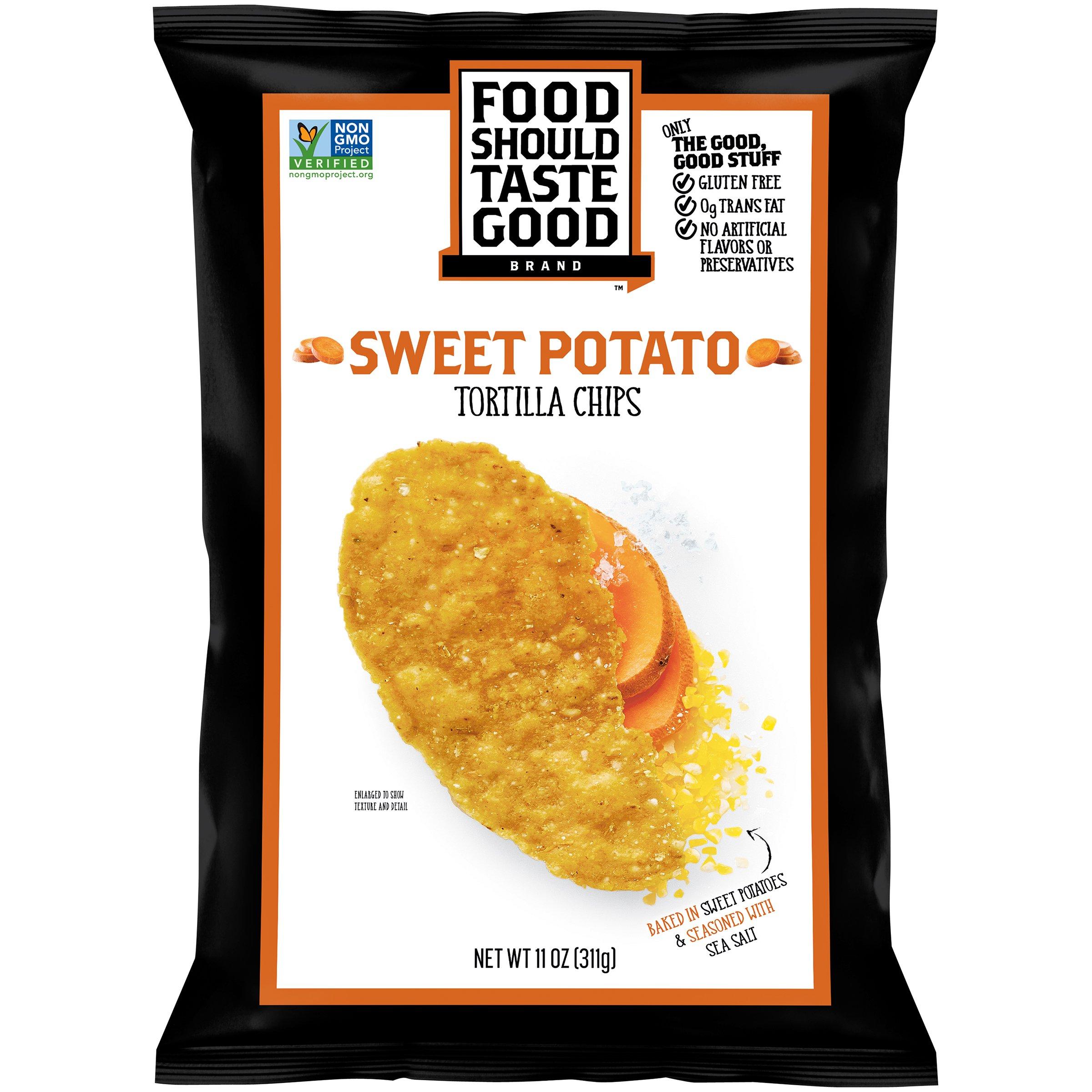 Food Should Taste Good, Tortilla Chips, Sweet Potato, Gluten Free Chips, 11 oz