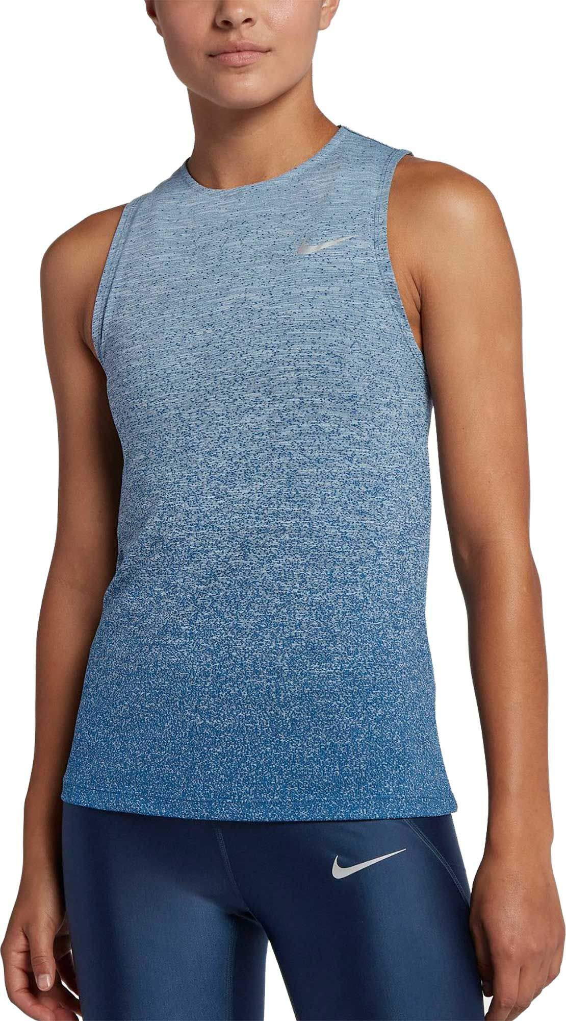 Nike Women's Medalist Running Tank Top (Cobalt Tint/Gym Blue, X-Small)