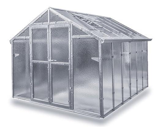 Gewachshaus Mit Glas Unschlagbar Stabil 2 5 X 3 05 M Konstruktion
