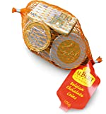Foiled UK milk chocolate coins in net - TRIPLE PACK 3 x 100g