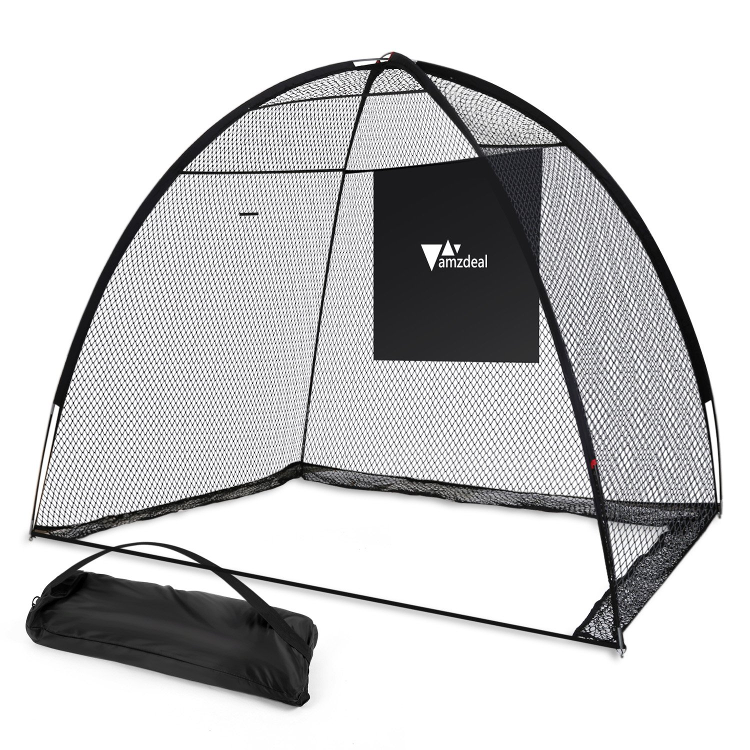 Amzdeal Golf Practice Net Golf Driving Hitting Net for Backyard Indoors Outdoors Golf Trainging Aids at Home with Target Sheet