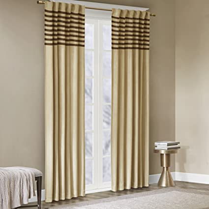 Exceptionnel Madison Park Beige Curtains For Living Room, Casual Rod Pocket Curtains For  Bedroom, Dune