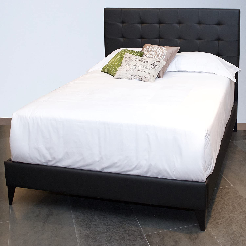 Astounding Amazon Com Leggett Platt Sullivan Platform Bed With Faux Creativecarmelina Interior Chair Design Creativecarmelinacom