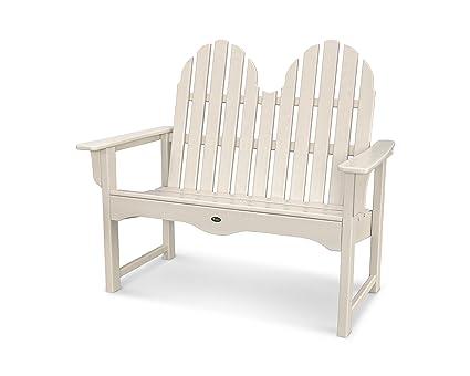 Trex Outdoor Furniture Cape Cod Adirondack 48u0026quot; Bench In Sand Castle