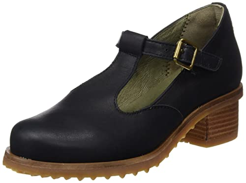 S.A N5101 Ibon Kentia Zapatos con Tira de Tobillo, Mujer, Negro (Black), 37 EU (4 UK) El Naturalista