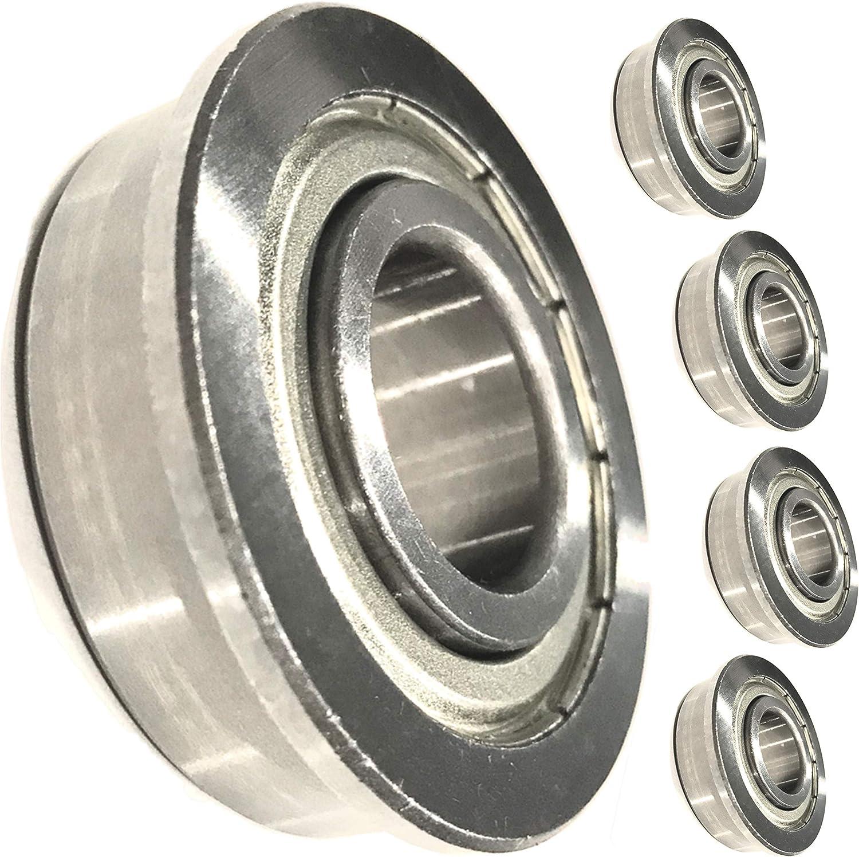 (4 Pack) HD Switch Front Wheel Bearings Replaces Hustler 039677 - Heavy Duty OEM Upgrade fits 13x6.5 Wheel Size Super Z, Z, Super Mini, Z4, XR7