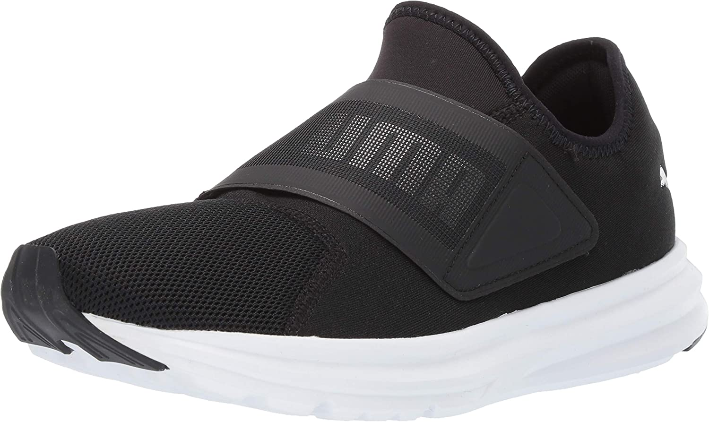 Puma Men's Enzo Strap Mesh Ankle High Fabric Fashion Sneaker