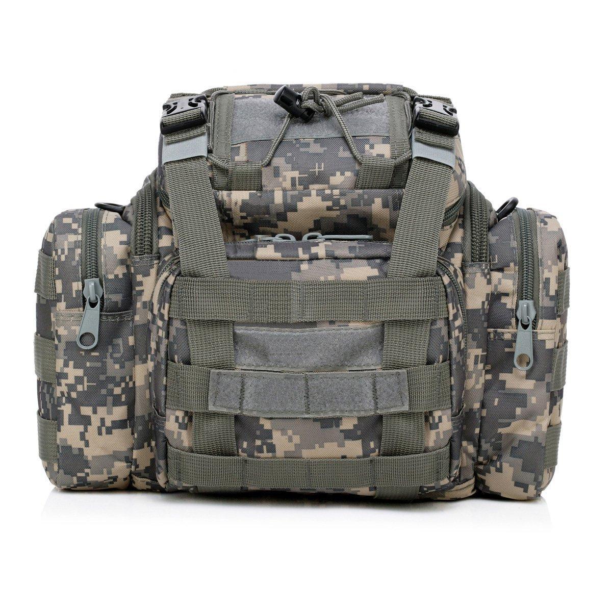 S-ZONE Sac bandoulière militaire pour camping Sac paquet ceinture Voyage Sac utilitaire argent objectif Cadrage G4Free S-ZONE D04V198A
