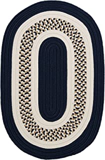 product image for Flowers Bay Sample Swatch Area Rug, Navy