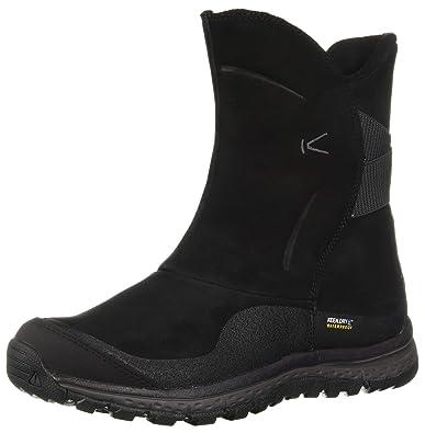 9105de4123 KEEN Women's Winterterra Lea Waterproof Fashion Boot, Black/Raven, ...