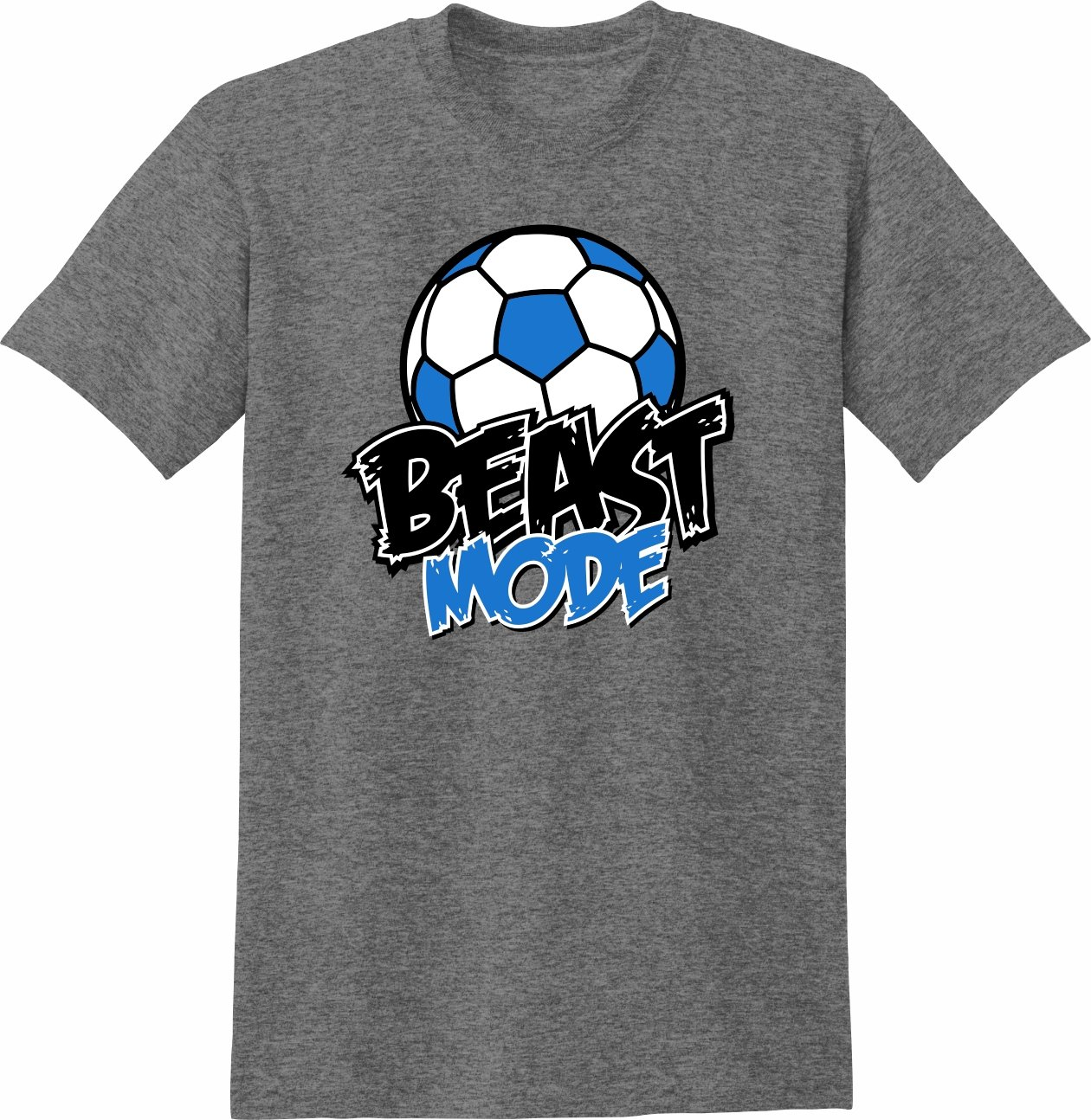 Soccer Tシャツ: Beast Mode Soccer B01MZG3DSAグレーヘザー(graphite heather) Youth Large
