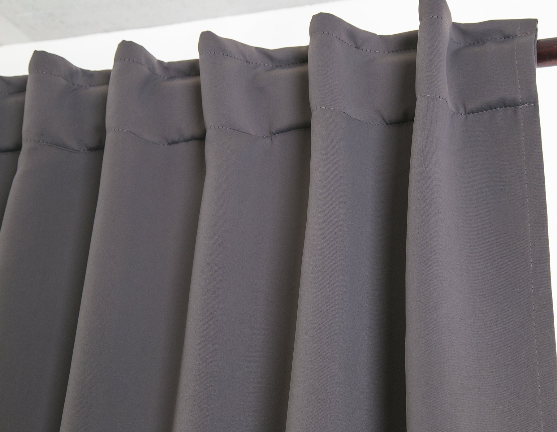 """Ottomanson 52"""" X 63"""" Back Tab & Rod Pocket-Grey (2 Panels) Blackout Curtain, Piece - Cuts out 80Percent - 90Percent of light and UV rays for maximum energy efficiency, while insulating heat and cold. Also improves sleeping conditions and TV viewing experience Design: modern Durable machine-made fade and wear resistant. Made in Turkey - living-room-soft-furnishings, living-room, draperies-curtains-shades - 81qJhqO44dL -"""