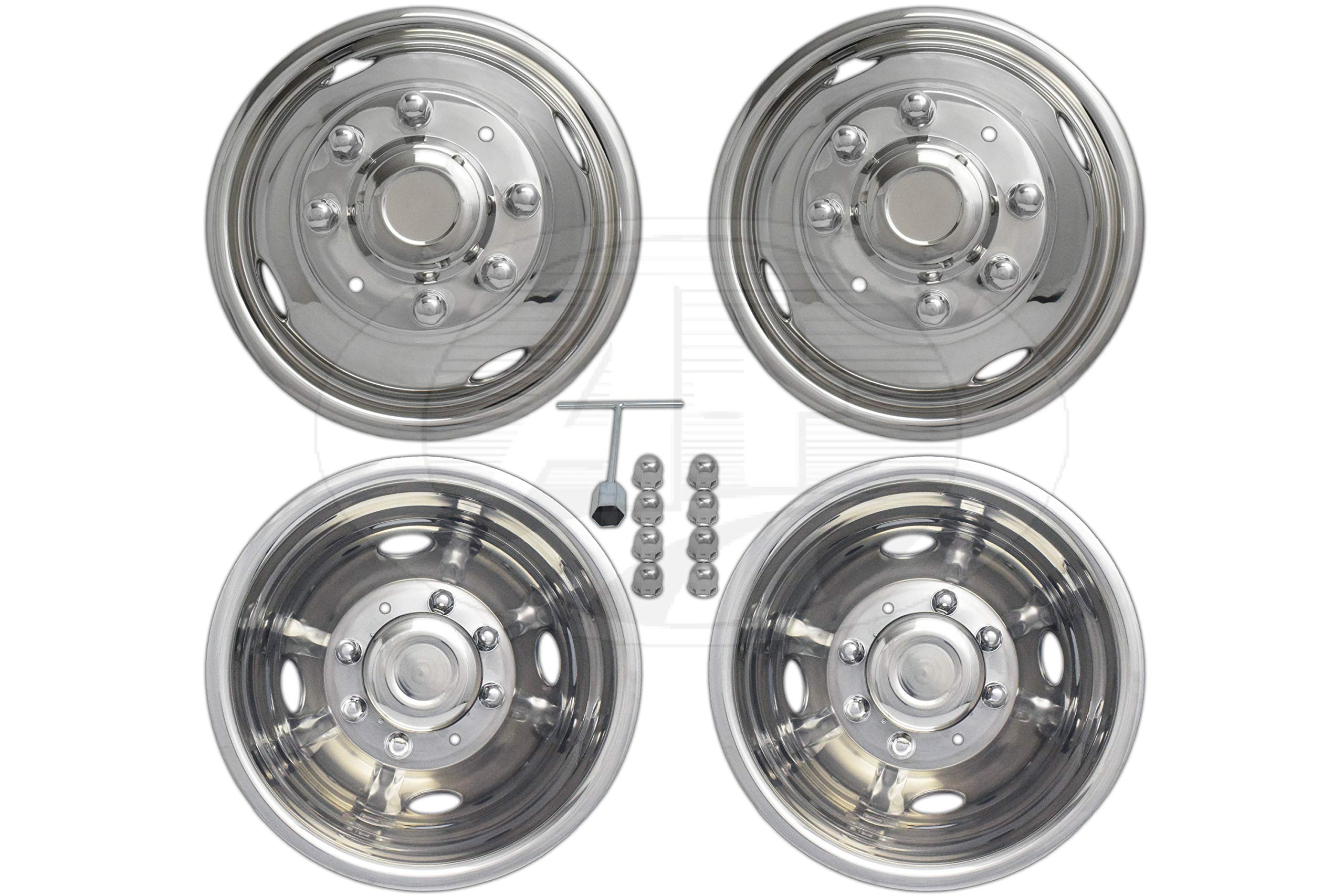 """A+ 17""""Stainless Steel Wheel Simulator Dually rim liner skin for Ford 350 05~17"""