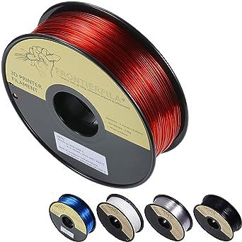 PETG rojo transparente 1kg 1.75mm - Filamento para impresora 3D ...