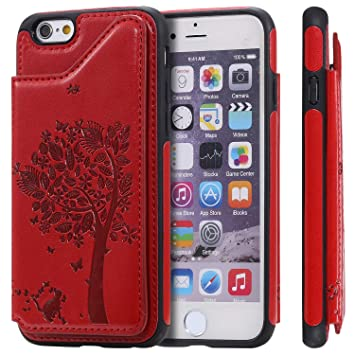 QY Mart Ranuras Cartera Funda Compatible con iPhone 6/iPhone ...