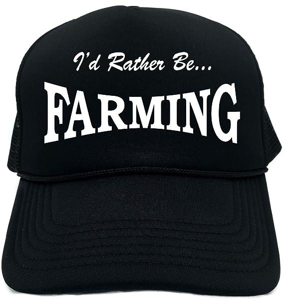 Amazon.com  Funny Trucker Hat (I D RATHER BE FARMING) Unisex Adult Foam  Retro Cap  Clothing ee997458584d