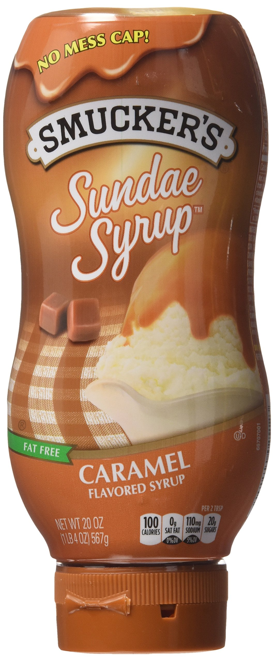 Smucker's Sundae Syrup Caramel Flavored Syrup, 20-ounce (Pack of 3)