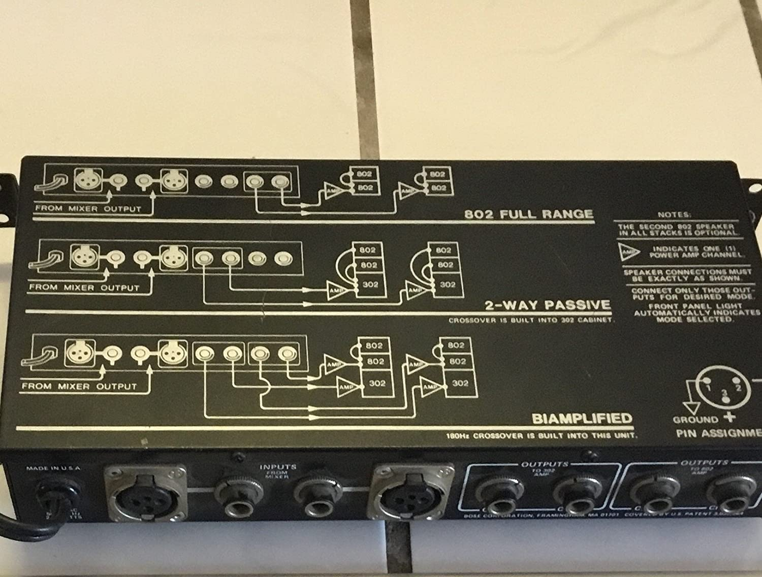 BOSE ACTIVE EQUALIZER 802-E used tested NOT REFURBISHED