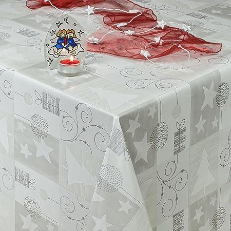 Hule, mantel encerado para mesa, lavable, diseño navideño con ...
