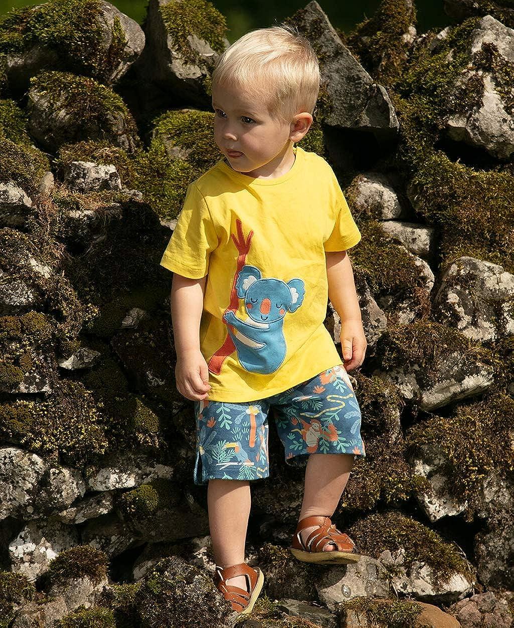Piccalilly - Camiseta para niño, Jersey Suave, algodón orgánico, Aplique de Koala para niñas y niños: Amazon.es: Ropa y accesorios