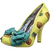 Irregular Choice Womens Ascot High Heel Yellow Pineapple Court Shoes Size