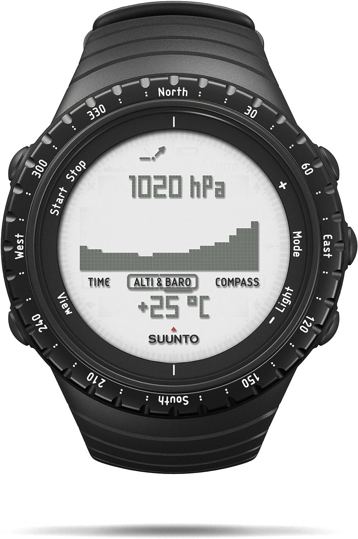 Suunto Core - Reloj de exterior para todas las altitudes, sumergible (30 m), con altímetro y barómetro, esfera de composite, color negro