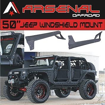 Amazon arsenal 50 inch led light bar upper windshield arsenal 50 inch led light bar upper windshield mounting brackets for jeep jk aloadofball Images