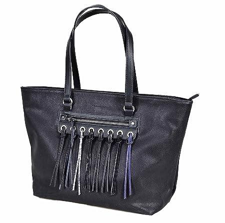 plus récent dbee4 233e5 Sacs à main Francinel - Black fringed shopping bag: Amazon ...