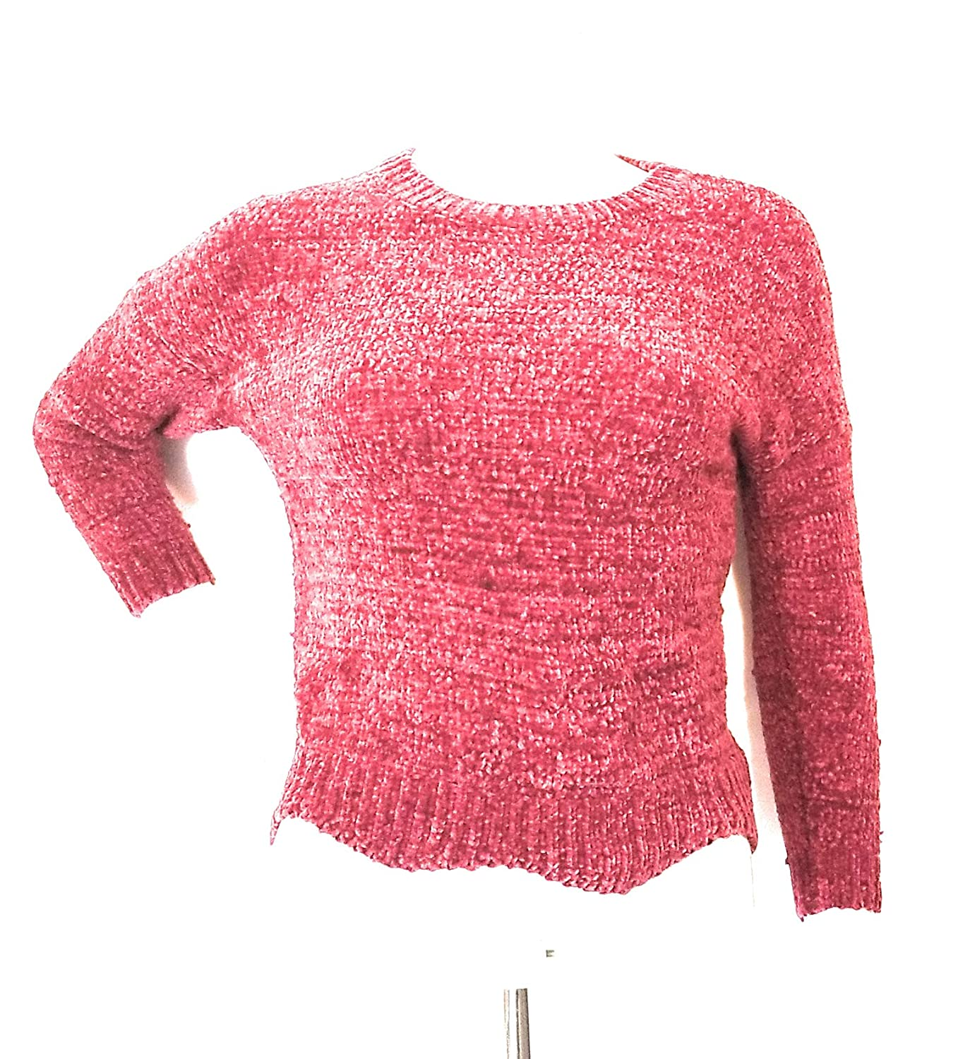S For All Seasons Chenille Pullover with Bell Sleeves Burgundy