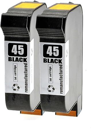 2 Cartuchos de Tinta para HP 51645 AE Black – negro 42 ml, compatible con 51645 AE: Amazon.es: Oficina y papelería