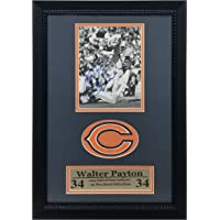 """Walter Payton 1993 Hall of Fame Chicago Bears Autographed Collectable Deluxe Logo Frame 12""""… photo"""