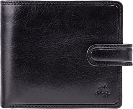 Visconti TSC42 Mens RFID Secure Blocking Leather Bifold Wallet ID  Holder Tan