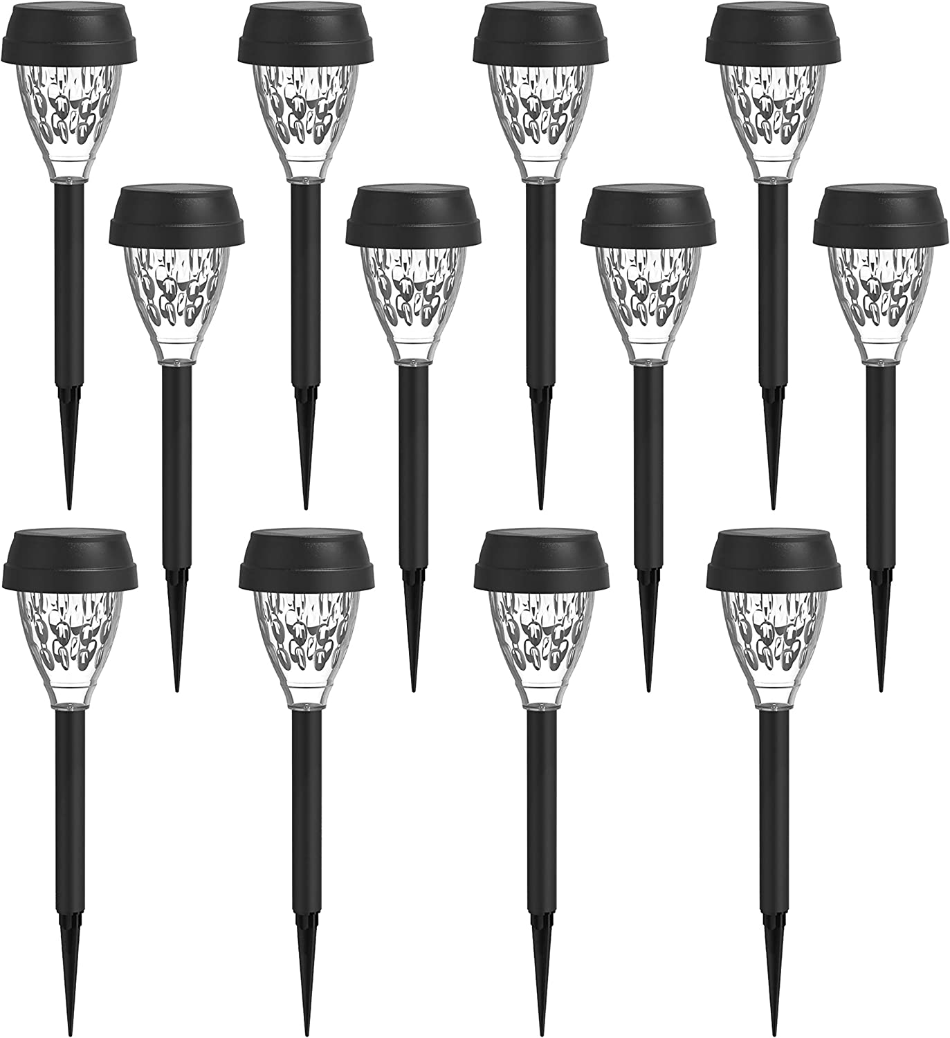 MAGGIFT 12 Pack Solar Powered Pathway Lights Outdoor RGB Muticolor Changing Garden Lights, Change Color Automatically, Waterproof Solar Landscape Lights for Lawn, Patio, Yard, Walkway, Deck, Driveway