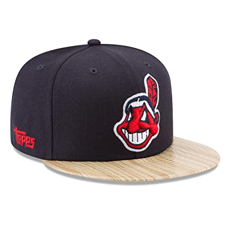 46ceeb02a8f Image Unavailable. Image not available for. Color  New Era Cleveland  Indians 9FIFTY MLB Cooperstown 1987 Topps Snapback Hat
