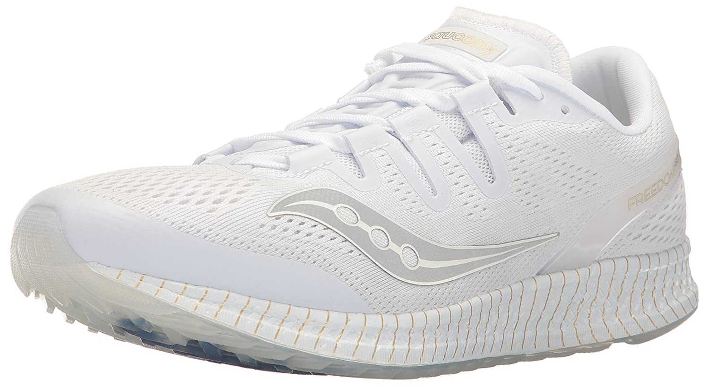 Saucony Freedom Iso Unisex Road-Running-Shoes B01HO8C4B8 11.5 M US|White/Gold
