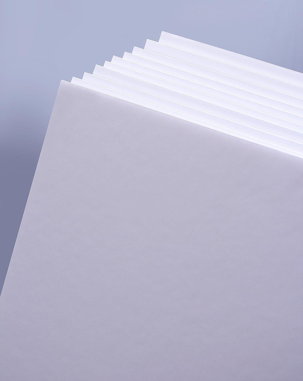 Lastre in spugna confezione da 10 formato A3 Cathedral colore: Bianco