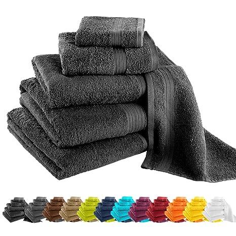 Gräfestayn Juego de toallas, diferentes tamaños y colores: toallas de