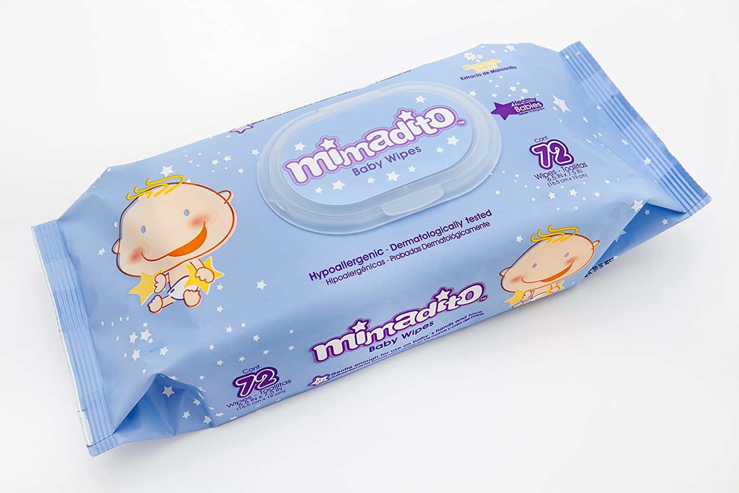 Amazon.com : Mimadito Chamomile - Lightly scented baby wipes (864 wipes: 12 packages of 72 wet wipes) : Baby