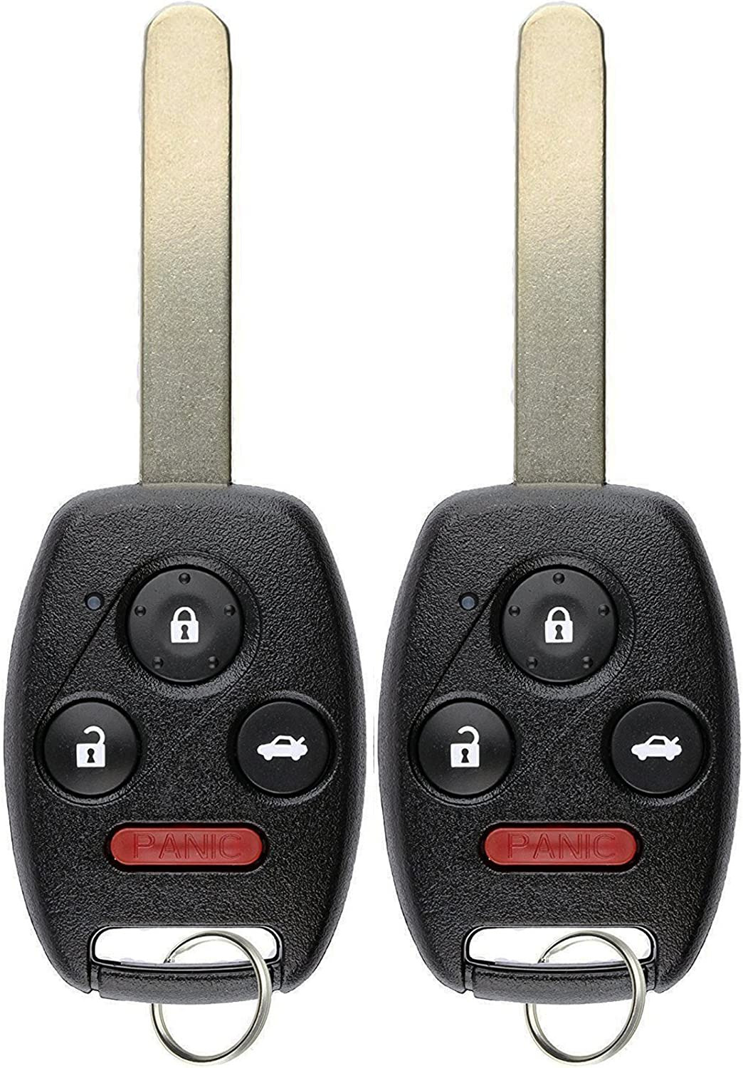 Pack of 2 KeylessOption Keyless Entry Remote Control Uncut Car Ignition Chipped Key Fob Replacement for Honda Civic N5F-S0084A