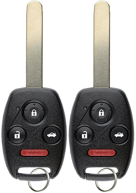 Honda Civic Key Replacement >> Keylessoption Keyless Entry Remote Control Uncut Car Ignition Chipped Key Fob Replacement For Honda Civic N5f S0084a Pack Of 2
