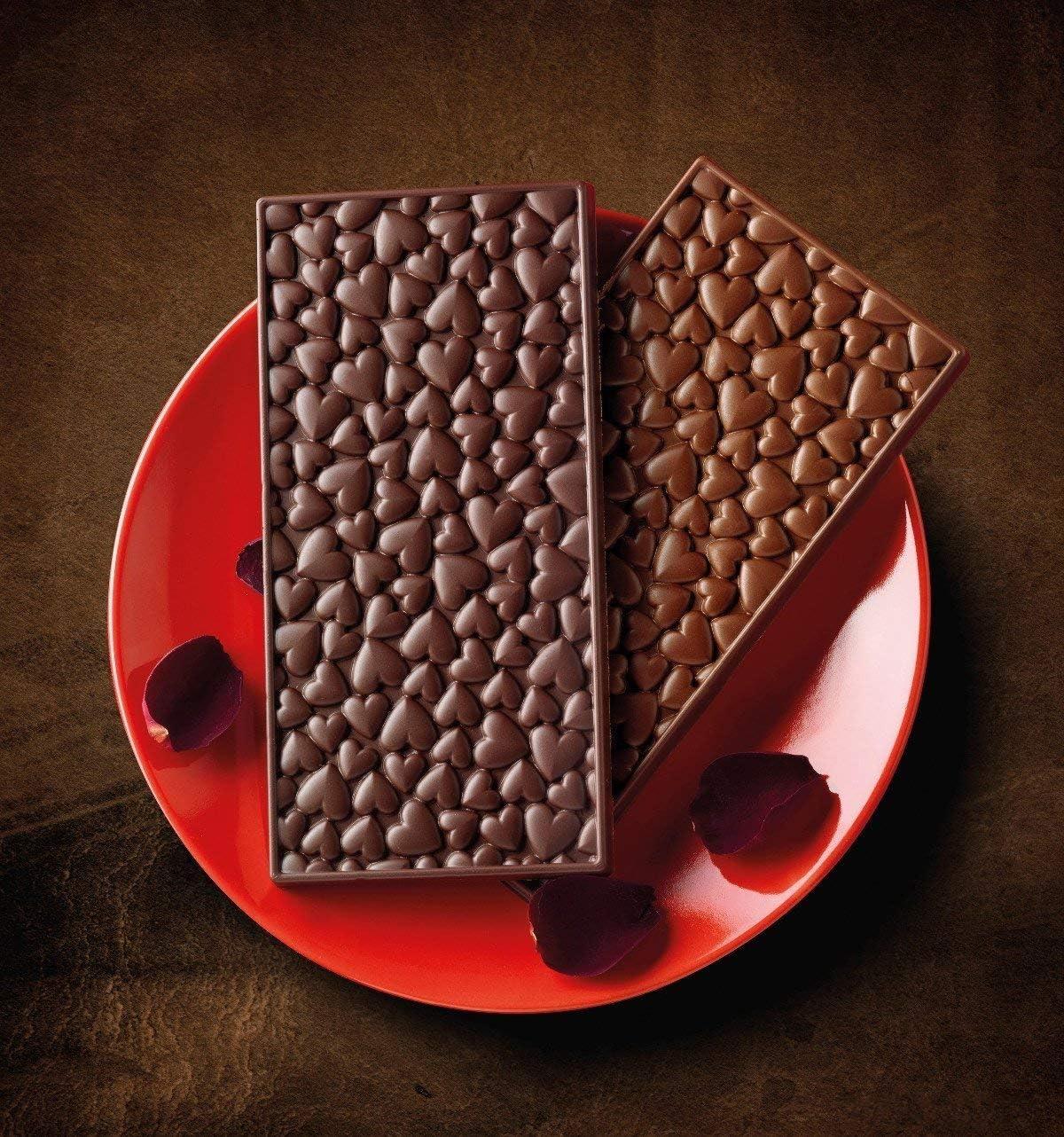 Unbekannt Silikomart 195932/Chocolate Forma Love Choco Bar Chocolate Forma Silicona 11,7/x 7,9/x 11/cm marr/ón